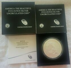 2014 Utah Arches Np P Mint America The Beautiful 5 Oz Silver Uncirculated Coin