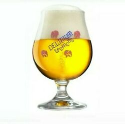 Delirium Tremens Pink Elephant Tulip Glass Huyghe Brewery 0,25 L New Set Of 2