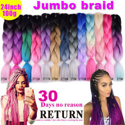 Ombre Jumbo Braiding Hair 24inch 3tone Balayage Color Fluffy Smooth 3-5pieces