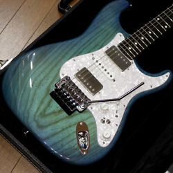 Used Providence As-102rsf Trans Blue Mod Electric Guitar Free Shipping