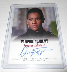 Vampire Academy Blood Sisters Movie Autograph Trading Card Dominique Tipper