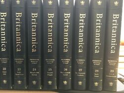 Encyclopedia Britannica 1989 Constitution Ed. Complete Set 32 Vol Padded Leather