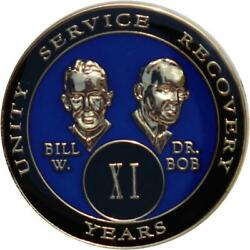 Recovery Mint 11 Year Aa Medallion - Tri-plate Chip/coin - Founders Blue