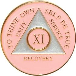 Recovery Mint 11 Year Aa Medallion - Tri-plate Chip/coin - Pink