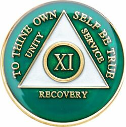 Recovery Mint 11 Year Aa Medallion - Tri-plate Chip/coin - Green