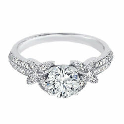 Round Cut 1.00ct Solitaire Diamond Engagement Ring 14k White Gold Size 4 5