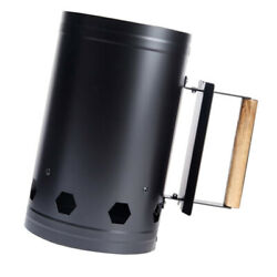 Chimney Charcoal Fire Starter Stove Camping Hiking Barbecue Bbq Fire Lighter
