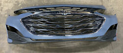 Fits 2019 2020 2021 Chevy Malibu Front Bumper Cover + 3 Grilles + Lower Bumper