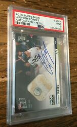 2019 Topps Now Gleyber Torres 458a Auto Relic London Series 90/99 Psa 9 Mint