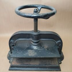 Vintage Antique Cast Iron Victorian Bookbinding Book Press. Vise Clamp Printing