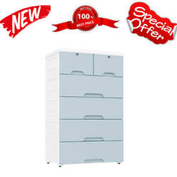 Plastic Drawers Dresser Storage Cabinet With 6 Drawers Closet Drawers Tall