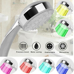 New Led Light Up Bathroom Shower Head Automatically Hydropower 7 Colors Changing