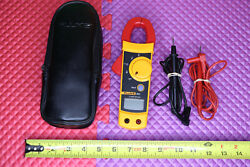 Fluke 322 Multimeter Clamp Meter With Oem Leads And Case Electric Amp Nice