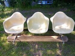 Tandem Three Shell Seating By Charles And Ray Eames For Herman Miller 1960s Mcm