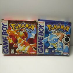 Pokemon Red And Blue Versions First Print Nintendo Game Boy No Games Read Boxes