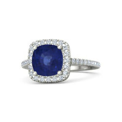 2.50 Ct Sapphire And Diamond Solid 950 Platinum Charming Wedding Ring Size L M N O