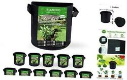 12-pack 1 Gallon Plant Grow Bags Thick Aeration Non Woven Fabric 1gallon_12pack