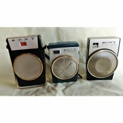 Old Sony Transistor Radio Tr-610 Tr-620 Tr-650 3 Pieces Set From Japan