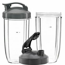 Queentrade 32oz Tall Cups And Flip Lids Ring Replacement Set For Nutribullet 60...