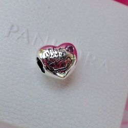New W/ Tag Authentic Pandora Its A Girl Charm Pink Cz 791280pcz Gift Pouch