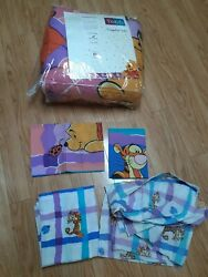 Vintage Disney Bedding Winnie The Pooh Tigger Quilt Sheets Pillow Cases Full