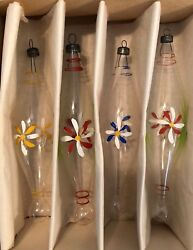 Vtg Unsilvered Handpainted Icicles Christmas Ornaments 6.5- 7 Tall🤶