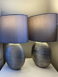 Pair Of Next Table Lamps With 3 Stage Dimmer