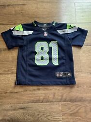 Pre Owned Golden Tate Seattle Seahawks Football Blue Jersey Size Toddler 3t