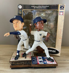 """Whitey Ford And Mariano Rivera New York Yankees """"then And Now"""" Bobblehead /504 Nib"""