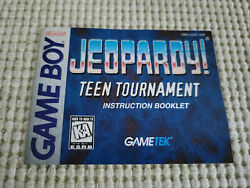 Jeopardy Teen Tournament - Authentic - Nintendo Game Boy - Manual Only