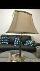 Brass Table Lamps Pair