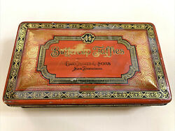Antique Geo. Haas And Sons San Francisco Buttercup Taffies Candy Tin 1 Lb Rare