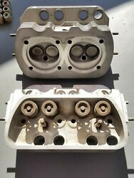 2 N O S Vw Bug Bus 1600cc Engine Cylinder Heads Dual Port Made In Germany Rare