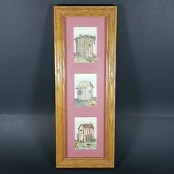 Bathroom Picture Wall Art 3 Outhouse Designs Wood Frame Country Farmhouse Decor