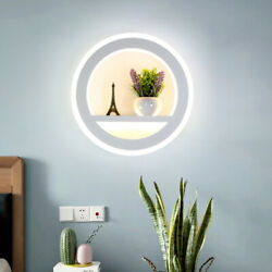 New Acrylic Wall Light Decorative Fixture Round Lamp W/ Display Stand For 510㎡