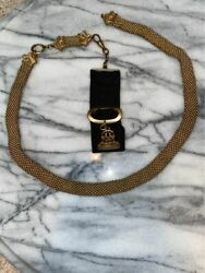 Rare Beautiful Antique Woven Watch Chain And Fob