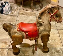 Rare Vintage 1950's Mobo Child's Metal Toy Horse