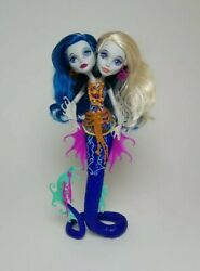 Monster High Great Scarier Reef Peri And Pearl Serpintine Doll And Accessories Mh