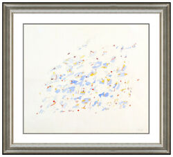 Clarence Morgan Original Painting Watercolor Abstract Modern Signed Framed Art