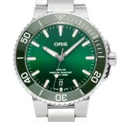 Oris Aquis 01 733 7732 4157 Date Green Dial Automatic Menand039s Watch Ex