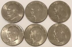 Eisenhower Dollars 6-coin Set Complete Set Of All 6 Years 1971-1978