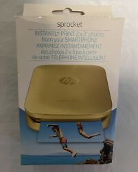 Hp Sprocket Portable Photo Printer Z3z94a 2x3-with 20 Photo Paper Included