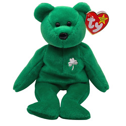 Ty Beanie Baby Erin The Bear 1997 With Errors - Rare And Retired W/ Red Stamp