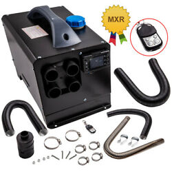 Diesel Air Heater 12v 5kw W/4 Holes + Lcd Display For Cars Trucks Boats Pickup
