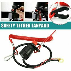 Universal Boat Outboard Engine Motor Kill Stop Switch And Safety Tether Lanyard Us
