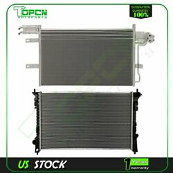Fits Ford Flex Taurus Lincoln Mkt Replacement Radiator And Condenser Assembly