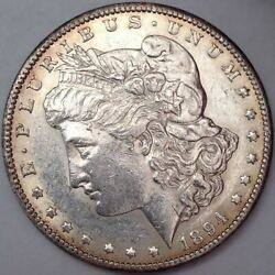 1894-s Morgan Silver Dollar - Lustrous Choice Au - Looks Much Nicer When In Hand