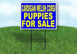 Cardigan Welsh Corgi Puppies For Sale Yellow Yard Sign Road With Stand Lawn Sign