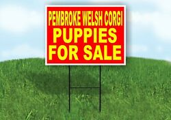 Pembroke Welsh Corgi Puppies For Sale Yellow Yard Sign Road With Stand Lawn Sign