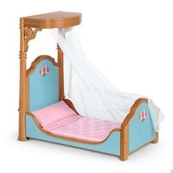 American Girl Doll Cecile And Marie Grace's Canopy Bed And Bedding New Retired